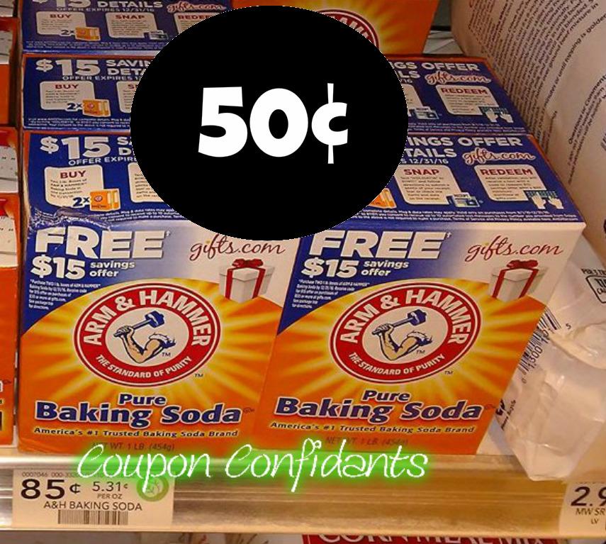 50¢ Arm & Hammer Baking Soda at Publix!