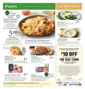 PUBLIX AD and Deals too! 12/4-12/10 or 12/5-12/11