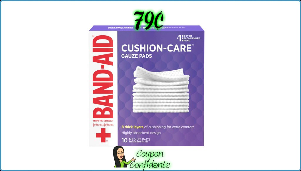 Band Aid Gauze 79¢ at Publix!