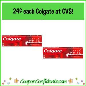 24¢ Colgate Toothpaste at CVS!