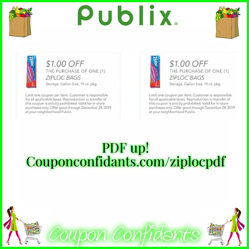 Ziploc Publix Coupon in PDF Form!