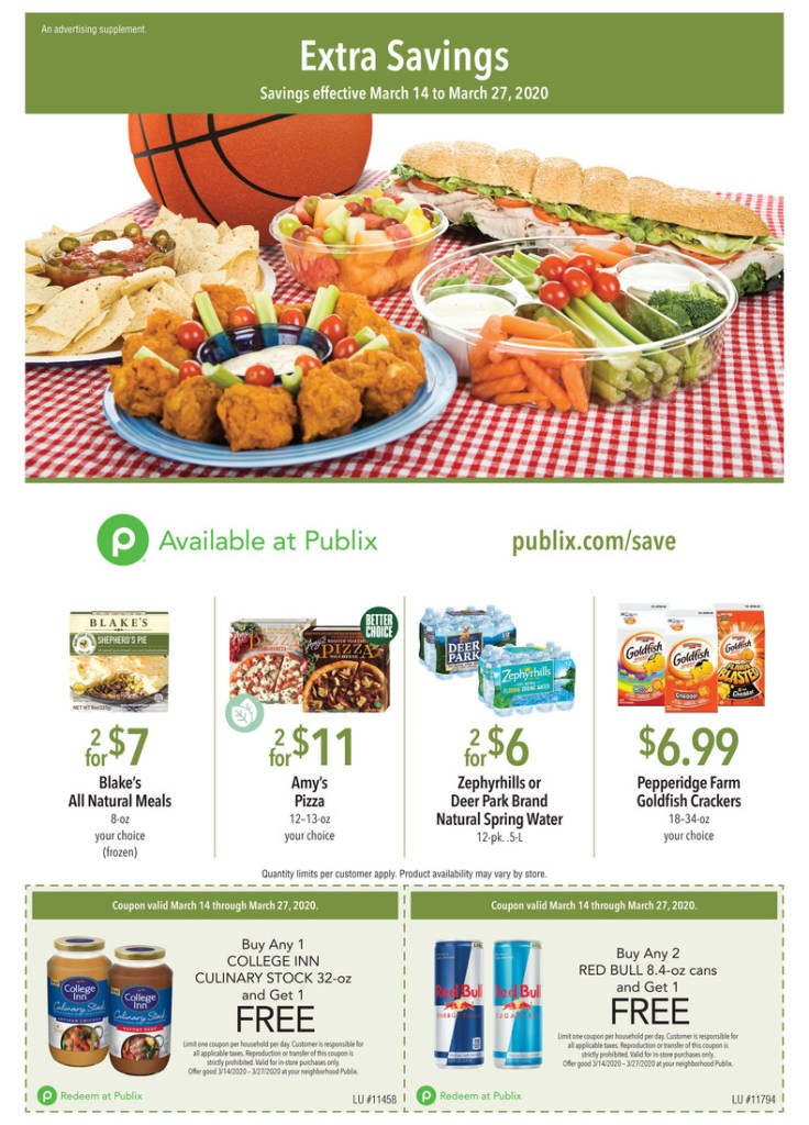 Publix Green Flyer AD! 3/14-3/27