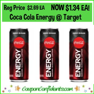 50% OFF Coca Cola Energy Drinks at Target!