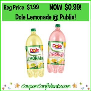 99¢ Dole Lemonades at Publix!