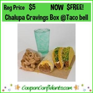 FREE Chalupa Cravings Box at Taco Bell!