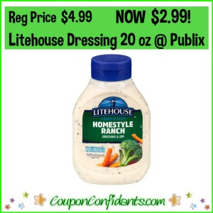 Litehouse Dressing Family Size Bottles $2.99 at Publix!