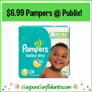 Pampers $6.99 at Publix! EVERYONE can do this!