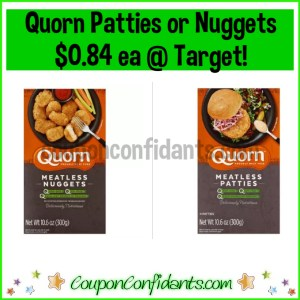 Quorn Meatless Nuggets OR Patties $0.84 each at Target!