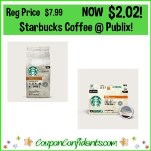 Starbucks $2.02 at Publix!
