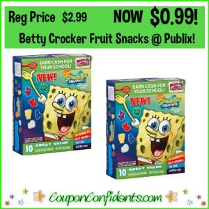 Betty Crocker Fruit Snacks $0.99 at Publix!
