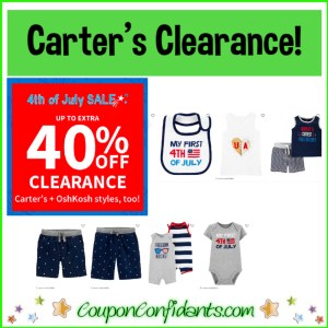 Carter's Clearance Sale! 40% OFF on top of LOW Prices!