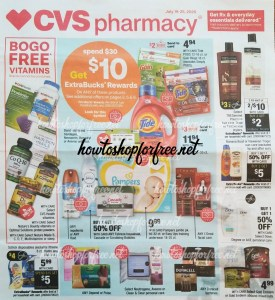 EARLY CVS AD! July 26 – August 1