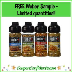 FREE Weber Seasoning Sample – HURRY! only first 10K People