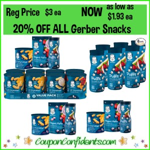 Gerber Snacks Sales – 20% OFF
