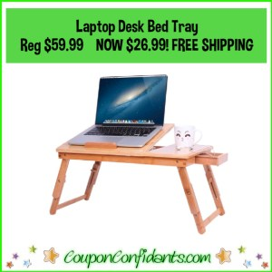 Bamboo Laptop Desk Bed Tray Reg Price $59.99 NOW $26.99 FREE Delivery!