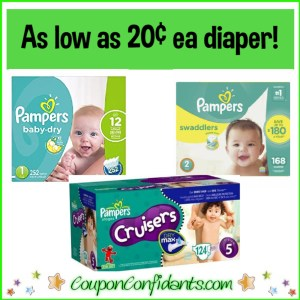 $3 Coupon with already LOW Prices for Pampers on Amazon!