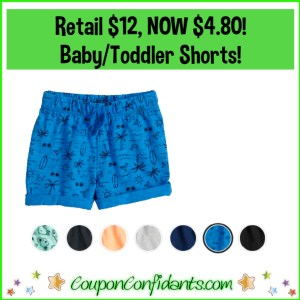 Baby/Toddler Shorts for super CHEAP! Reg Price $12 NOW $4.80!