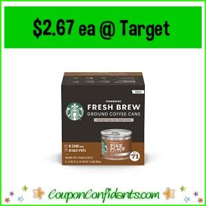 Starbucks Fresh Brew $2.67 at Target! WOW!