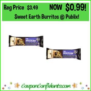Sweet Earth Burritos $0.99 at Publix!