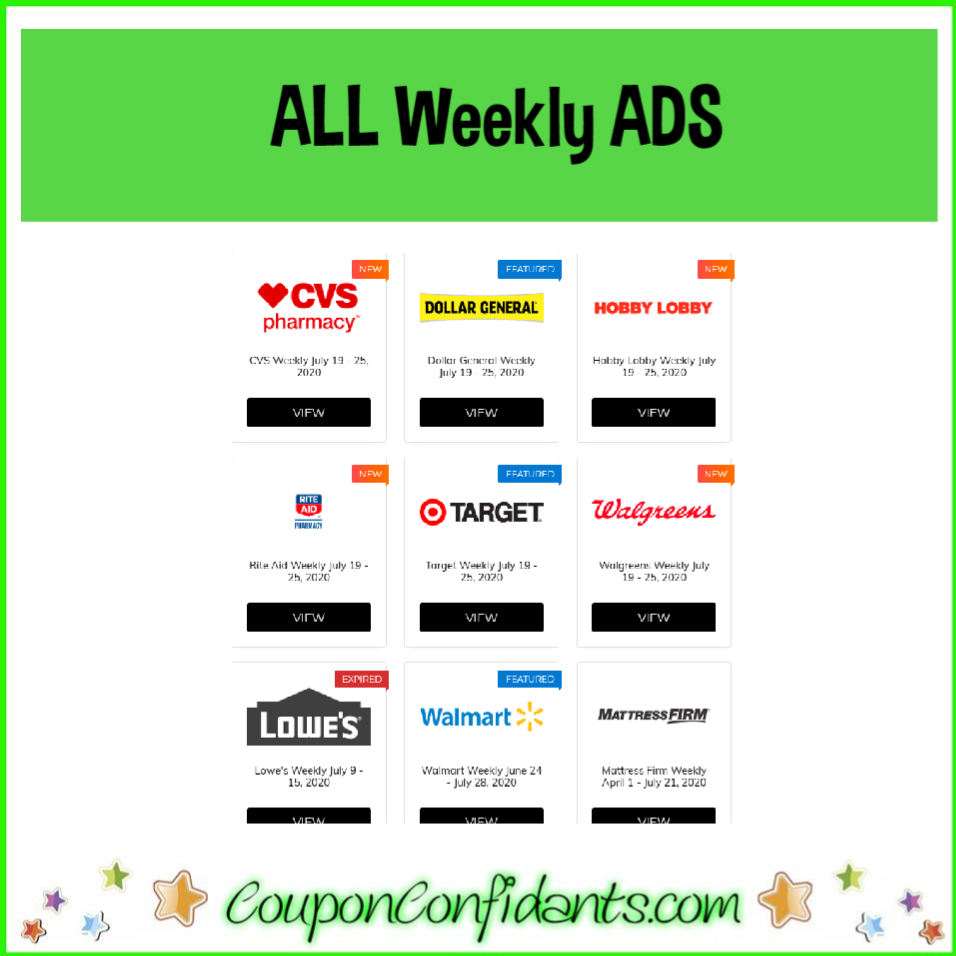 Weekly Ads – LIVE Updates and Searchable!