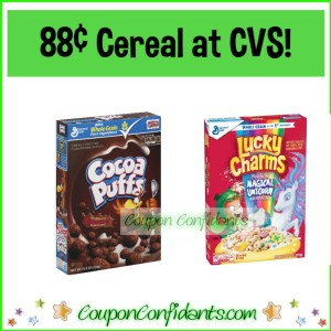 General Mills Cereal Only 88¢ at CVS!
