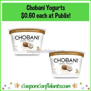 $0.60 Chobani Yogurts at Publix for EVERYONE!
