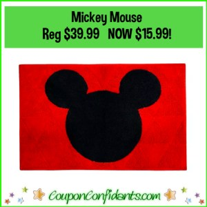 Mickey Mouse Rug Was $39.99 NOW $15.99!
