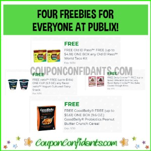 FOUR FREEBIES at Publix for EVERYONE!!