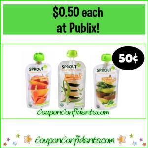 Sprout Baby Food Pouches $0.50 each at Publix!