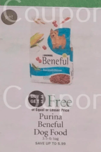 Beneful Dog Food $0.99 each at Publix!