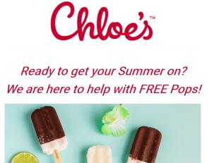 FREE Chloe's Pops!