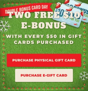 $70 of Chili's Gift Cards for $50!!