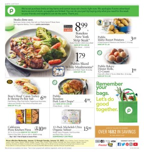 PUBLIX AD Start Date Jan 13-19 or Jan 14-20 (Depends on where you live*)