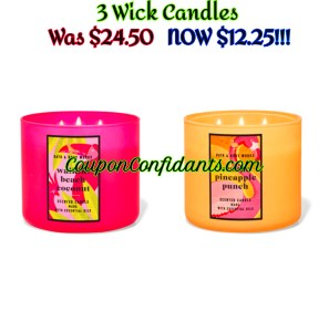 $12.25 3 Wick Candles! – Bath and Body Works!