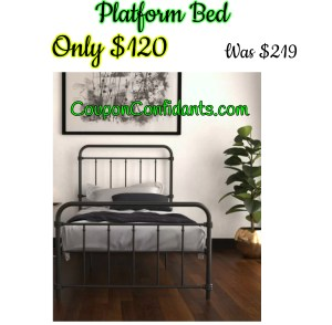 Platform Bed Was $219 NOW $120!