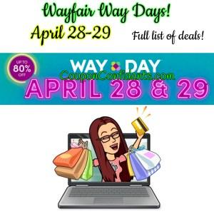 WayFair EPIC Deals – WAY DAY is here!