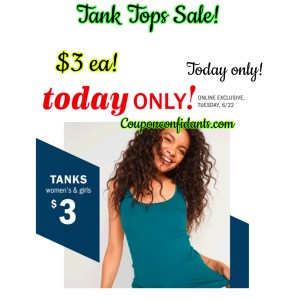 $3 Tanks today only! RUN!