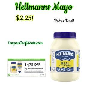 Hellmann's Mayo $2.25 @ Publix!