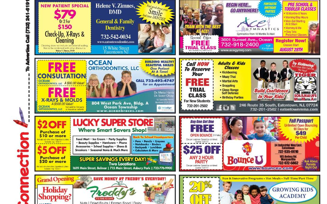 JULY 2017 COUPON CONNECTION/SUMMER FUN CONNECTION –  Click To See Coupons