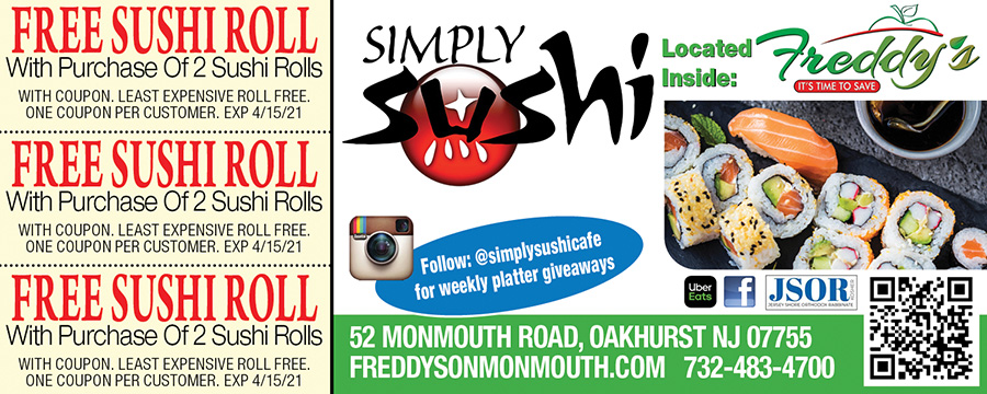 Simply Sushi Located Inside Freddy's