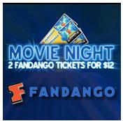 2 Movie Tickets For $12 – Fandango.com