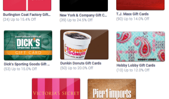 Raise.com: Save $5 On Select Gift Cards (Including Target, Pier 1 Imports & More!)