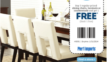 Pier 1 Imports: Buy Three Dining Room Chairs or Stools, Get Your Fourth Chair FREE