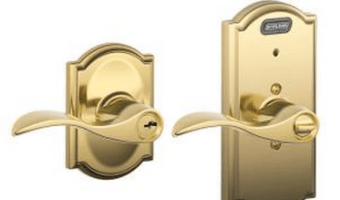 Schlage Keyed Entry Door Handle with Built-In Camelot Alarm Only $39 (Reg. $99)