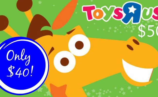 Hot 50 Toys R Us Gift Card Only 40