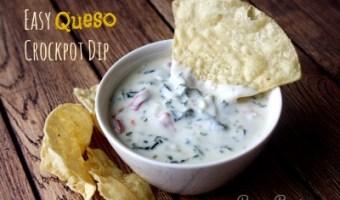 Easy Queso Crockpot Dip Recipe