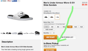Finish Line: Men's Under Armour Slide Sandals only $9.98 + Free In-Store Pickup
