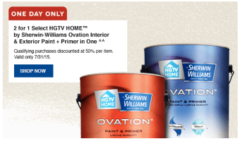 Lowe's Paint Sale for the Home: Buy One, Get One FREE