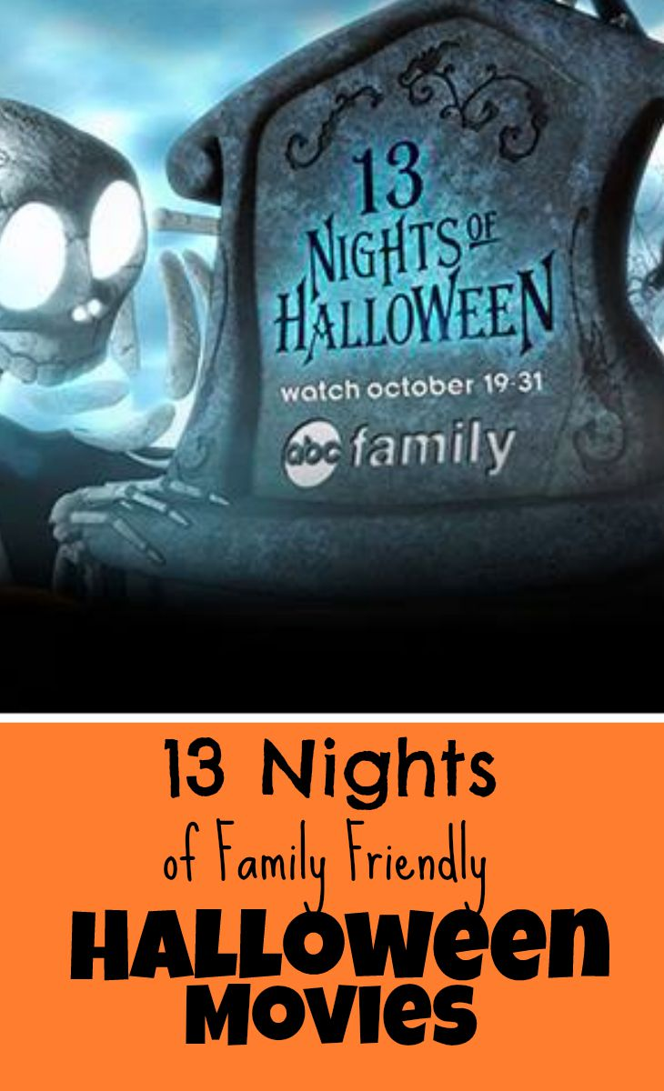 ABC 13 Nights of Family Friendly Halloween Movies Schedule -