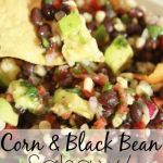 This Salsa with Avocado takes about 10 minutes to make and is a hit appetizer to bring to a party